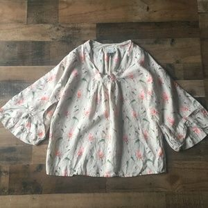 HD in Paris Sketched Rosemallow Oversized Blouse 6